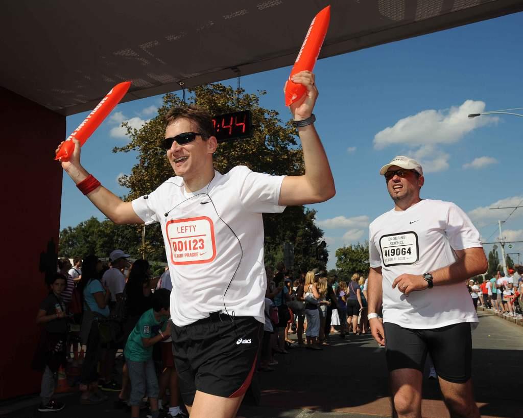 Nike Run Prague cíl