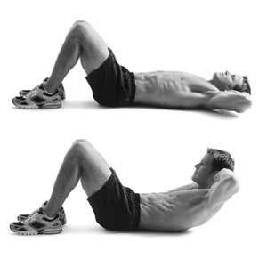Posilování břišních svalů zkracovačky