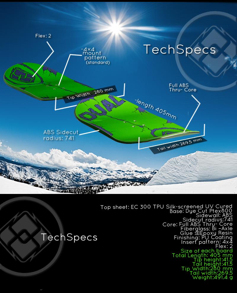 Dual snowboard