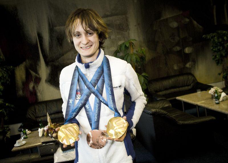 Martina Sáblíková s medailemi