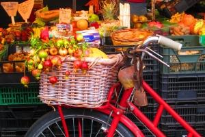Spousta jídla na kole