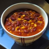 Fazolová polévka z červených fazolí