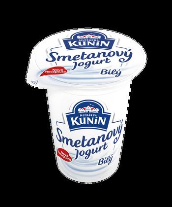 Bílý smetanový jogurt