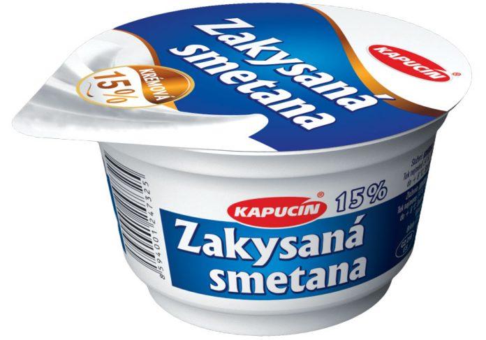 Zakysaná smetana Kapucín 15 % 180 g
