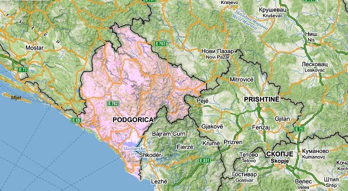 Mapa Cerne Hory Sportuj Com