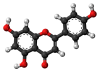 Apigenin molekula