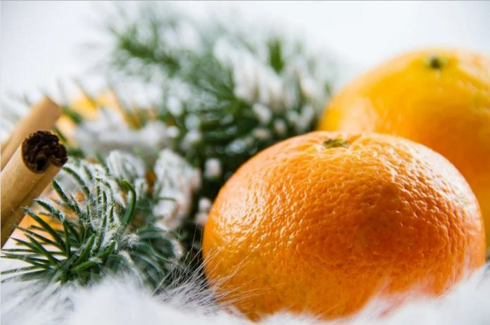 Mandarinka a Vánoce