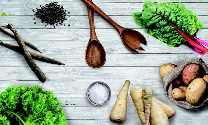 Černý kořen a zelenina