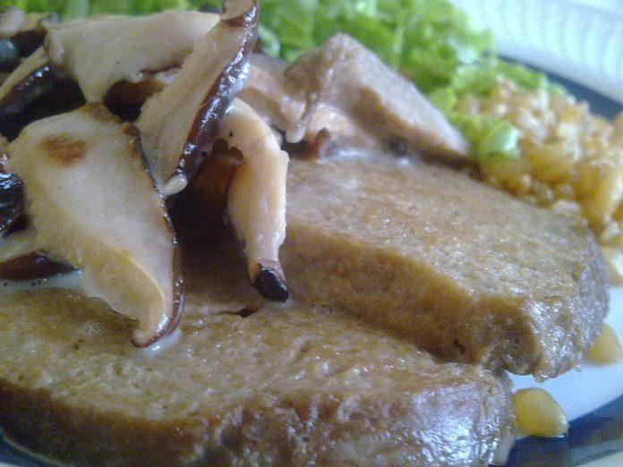 Seitan a shiitake